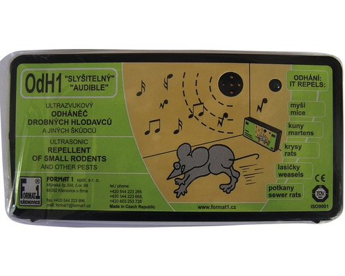Odpudzovač hlodavcov ultrazvukový odH 1 počuteľný