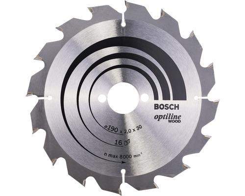 Pílový kotúč Bosch OPTILINE 190x30 mm 16 Z