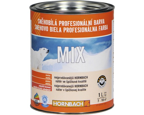 Snehobiela profesionálna farba Hornbach MIX, báza A 1 l