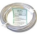 Audio kábel V03VH-H (CYH) 2x0,75 mm² biely-čierny 10 m
