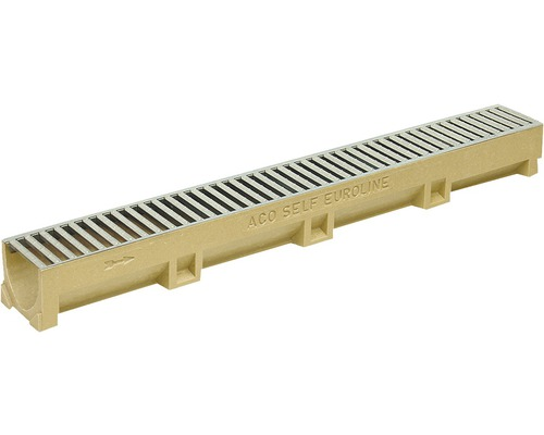 Odvodňovací žľab ACO EuroSelf 38702, 50 cm, s pozinkovaným roštom