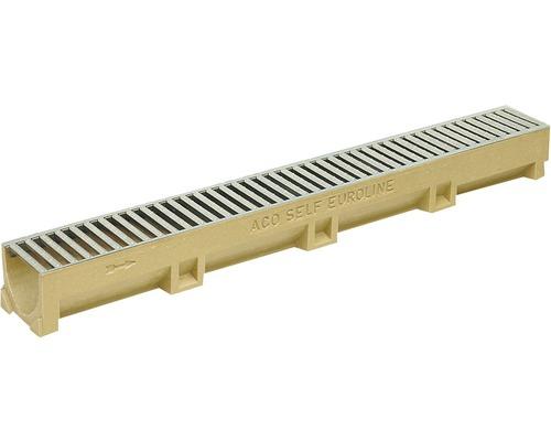 Odvodňovací žľab ACO EuroSelf 38707, 50 cm, s liatinovým roštom
