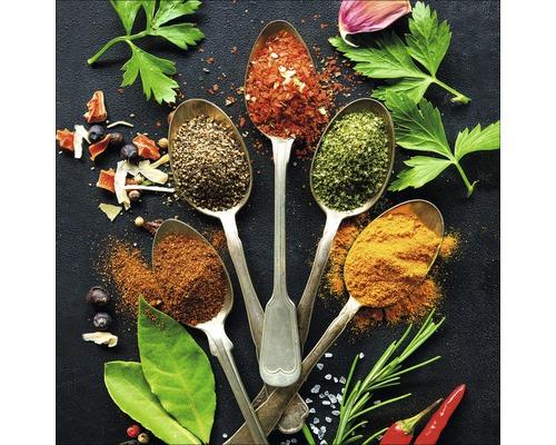 Sklenený obraz Vintage Herbage II, 20x20