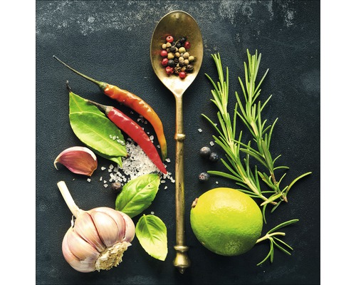 Sklenený obraz Vintage Herbage III