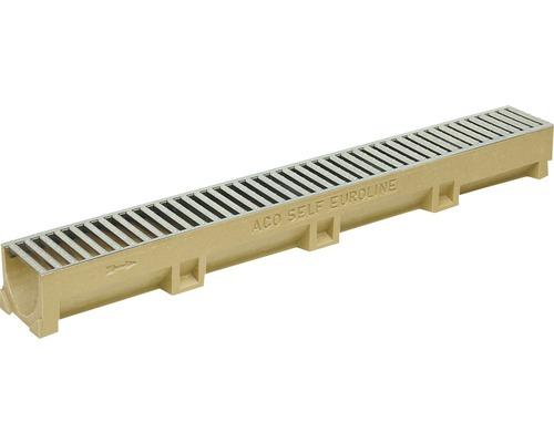 Odvodňovací žľab ACO EuroSelf 38705, 100 cm, s liatinovým roštom