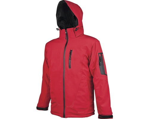 Pánska zimná softshellová bunda SPIRIT červená XXL